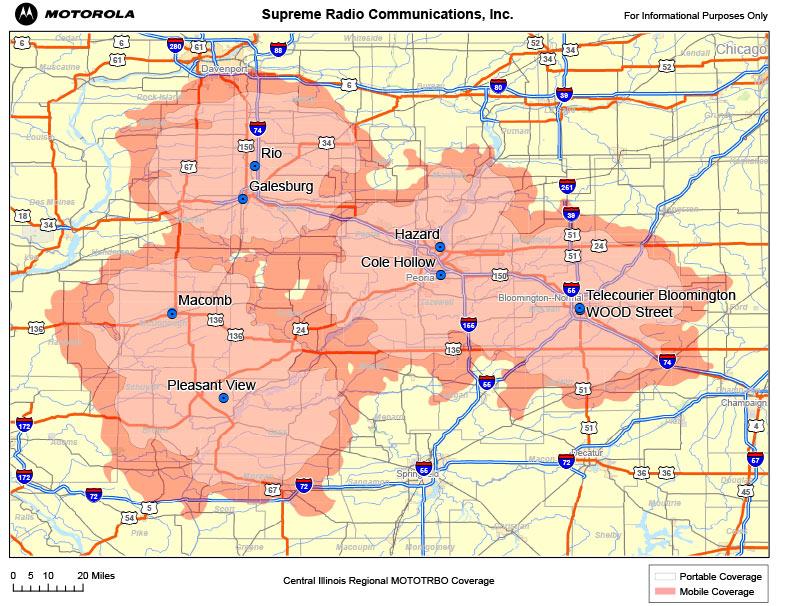 Supreme Radio Communications, Inc. Illinois Coverage Maps